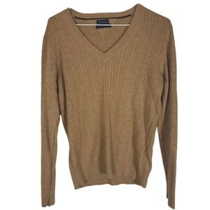 Tommy Hilfiger V-Neck Sweater Cabled 100% Cotton M